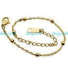 Solid 18K Yellow Gold Filled Tarnish-Resist Italian Thin Rolo Chain Bracelet C5J