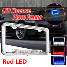 1 X Acrylic Plastic DC12V Universal 54LED Red Car Rear License Plate Cover Frame
