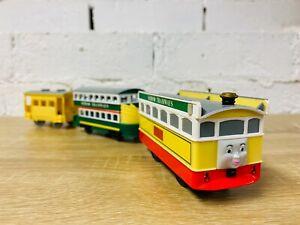 Flora & Tram Set - Thomas Battery Operated Trackmaster Motorised TOMY Trains