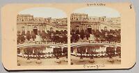 Versailles L'Orangerie Francia Stereo Vintage Albumina Ca 1860