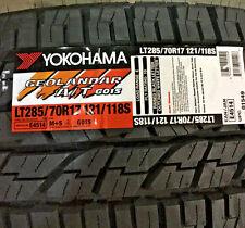4 New LT 285 70 17 Yokohama Geolandar A/T G015 10 Ply Tires