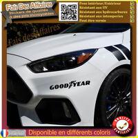 2 Stickers Autocollant Goodyear sponsor tuning rallye decal drift