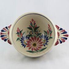 Ancien Gros BOL à OREILLES Faïence HB QUIMPER French Ceramic bowl/Bretagne/hr...