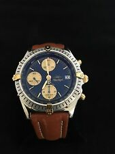 BREITLING BLUE ANGELS CHRONOMAT B13048 GOLD & STAINLESS SILVER DATE MEN'S WATCH