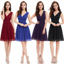 V-Neck Regular Size Dresses for Women with Empire Waist