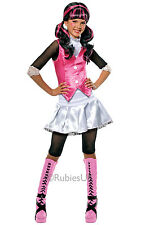 Childrens Draculaura Fancy Dress Costume Monster High Halloween Outfit 8-10 Yrs