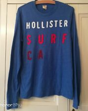 Man's HOLLISTER Navy Long Sleeved TOP - Size SMALL