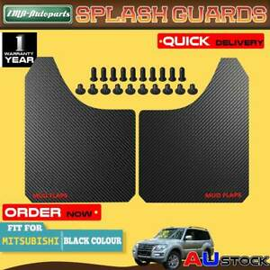 2x Black Front Rear Universal Splash Guard Mud Flap for Mitsubishi Pajero Triton