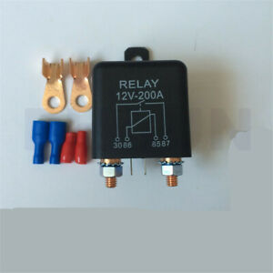 12V High Power Car Truck Boat 2Pin Relay 200A for Winch Motor Battery Starter 1x