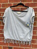 RALPH LAUREN Denim & Supply Boho Tassel Oversized Southwestern Top Large Shirt