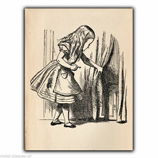 Alice's Adventures Small Door METAL SIGN WALL PLAQUE illustration picture print