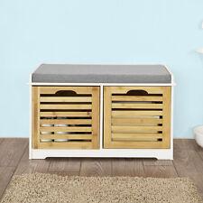 SoBuy® Banco de almacenamiento con cojines,zapato cómodo banco FSR23-K-WN, ES