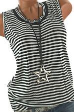 ITALY Trägershirt Sommer TOP Shirt Hemd gestreift schwarz/weiß 36 38 40 NEU