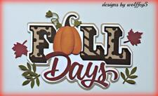 CRAFTECAFE FALL TITLE paper piecing scrapbook piece premade page diecut WOLFFEY5