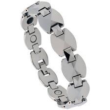 Tungsten Carbide Magnetic Bracelet w/ Triangular Facets
