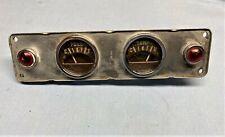 1948-49 HUDSON SUPER-COMMODORE FUEL-TEMP GAUGE CLUSTER-PANEL HOT ROD-RAT ROD