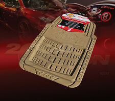 DICKIES ALL WEATHER WATER PROOF 2PCS FRONT FLOOR MATS TAN BEIGE FOR ACURA HONDA