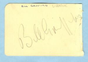 BILL GRIFFITHS & DERRICK TAILBY HAND-SIGNED ALBUM PAGE -1940's> LIVERPOOL etc