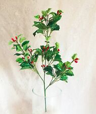 Holly Berry Stem ~ Christmas Filler Greenery Silk Wedding Flowers Centerpieces
