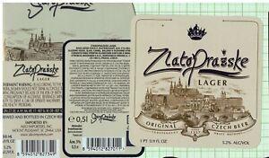 CZECH Woodmin s.r.o. Praha ZlatoPrazske Lager beer label B096 007