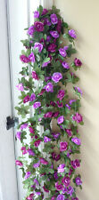"90"" Artificial Purple Small Flowers Vine Wall Garland (Set of 4 )"