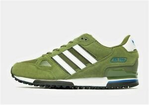 Adidas Originals ZX 750 Green and White MEN'S Leather Trainers UK 6