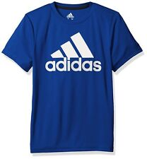 Adidas Junior Boys Logo Climalite Short Sleeve Tee Shirt Brand New with TAGs