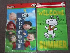 "Peanuts Snoopy and the Peanuts Gang ""Welcome"" Mini Garden 12 x 18 Flag-Choose 1"