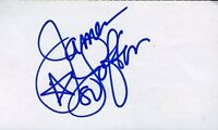 James Lofton Hof Signed Jsa Cert Sticker 3x5 Index Card Authentic Autograph
