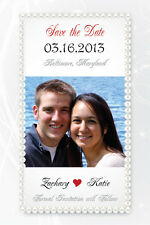 Wedding SAVE THE DATE Pearls Printable Card Photo File Custom Print 4x6 or 5x7