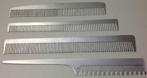 Aluminium Kamm Aluminiumkamm WÄHLBAR Alu Metall Kamm Toupierkamm Damenkamm