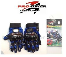 Pro Biker Motorcycle Armored Riding Blue Large Gloves Yamaha Racing YZF R6 R1