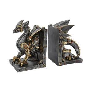 Dracus Machina 27cm Dragon Bookend Figurine Steampunk Ornament Statuette