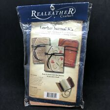 Leather Journal Kit Classic Design Parchment Paper Ready To Punch Tool Dye