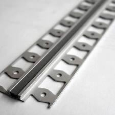 Dehnfugen-Profil 2,50 m Alu eloxiert silber m. Silikonfuge grau bis 4,5 mm