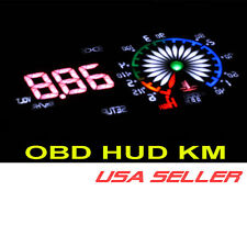 ADD W1 HUD OBD KM head up display DASH CLUSTER gauge shift light Blue kilometers