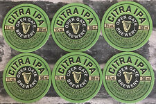 GUINNESS CITRA IPA BEER MATS / COASTERS (X6) - NEW