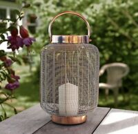 Handmade Cooper Storm Lantern Candle Holder