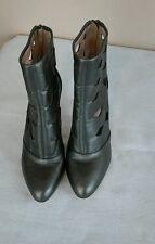 SJP Sarah Jessica Parker Linda Cutout Boots Metalic Leather Size 37 (7 US)