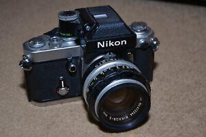 Vintage NIKON F2 camera with Nikkor-S Auto 50mm lens