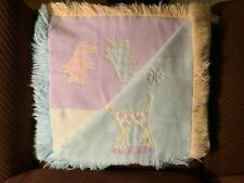 Carters John Lennon Baby Nursery Woven Blanket Fringe Imagine Real Love Animals
