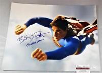 "BRANDON ROUTH ""SUPERMAN"" SIGNED 16X20 METALLIC PHOTO SUPERMAN RETURNS JSA 669"