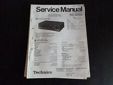 Original Service Manual Technics Cassette Deck RS-B555