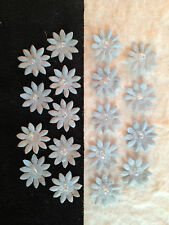 20 Blue Handmade Mulberry Paper Flowers Miniatures dolls Scrapbooks Cards crafts