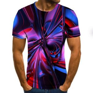 Superbe T-Shirt Homme Style Vortex imprimé 3D Eté 2020 Lumineux Du XXS au 6XL