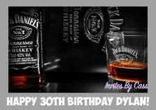 JACK DANIELS WHISKEY A4 EDIBLE IMAGE CAKE TOPPER BIRTHDAY PARTY KIDS