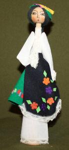Vintage hand made wood/cloth folk doll