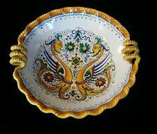 "Vintage Grazia Deruta Italy 8"" Majolica Raffaellesco Pottery Serving Bowl RARE"