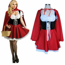 Womens Sexy Little Red Riding Hood Peasant Halloween Adult Costume Size S-6XL