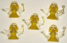 Lot of 5 Yellow Fairy Finger Puppet Toys, Yellow